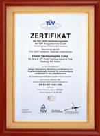 1997通过德国TUVISO14001认证